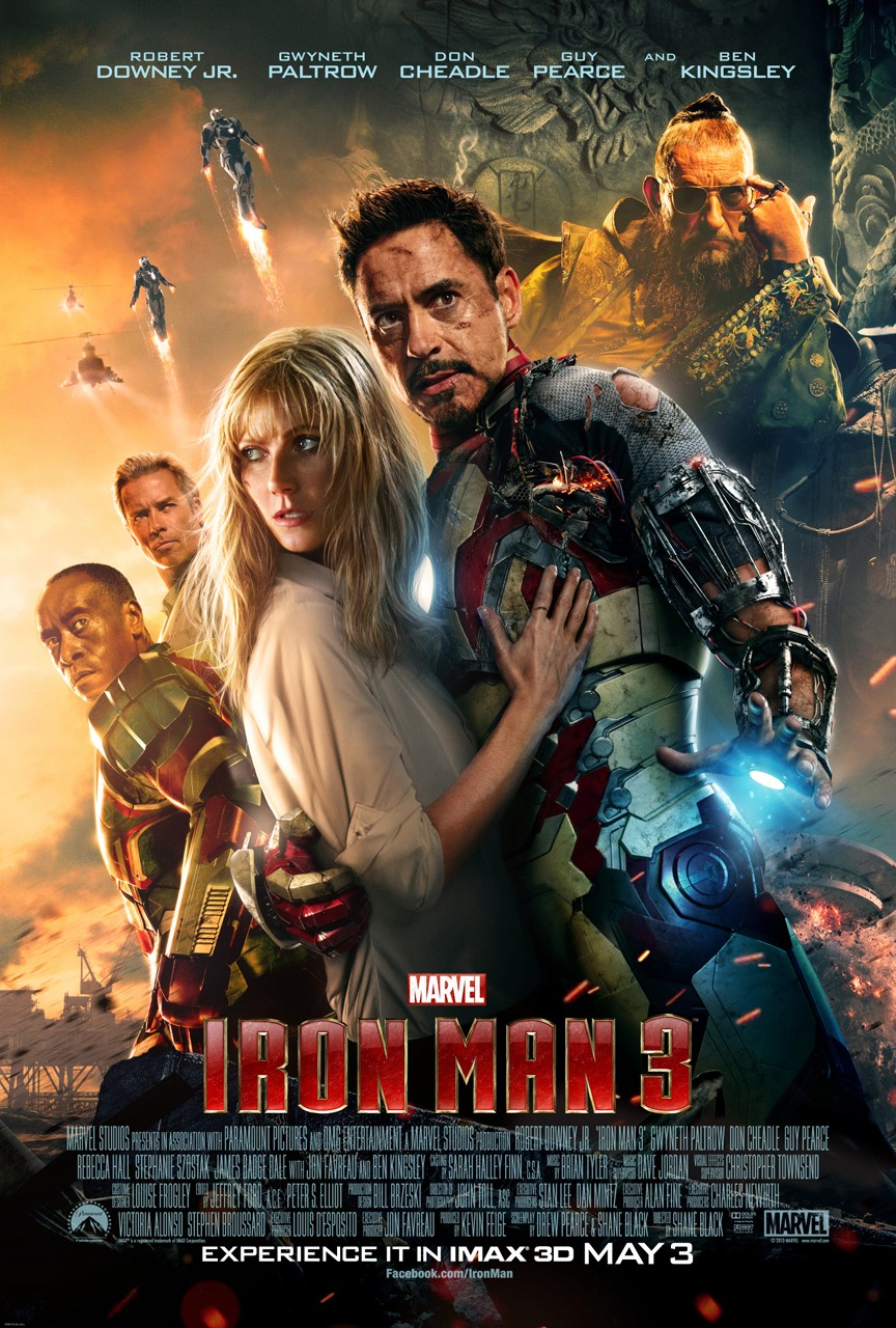"Theatrical poster for ""Iron Man 3""."