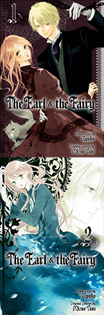 "Covers of volumes 1-2 of ""The Earl and the Fairy"" by Ayuko."