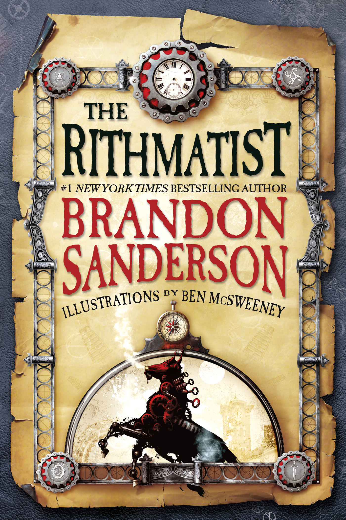 """Cover of the hardcover of """"The Rithmatist"""" by Brandon Sanderson."""