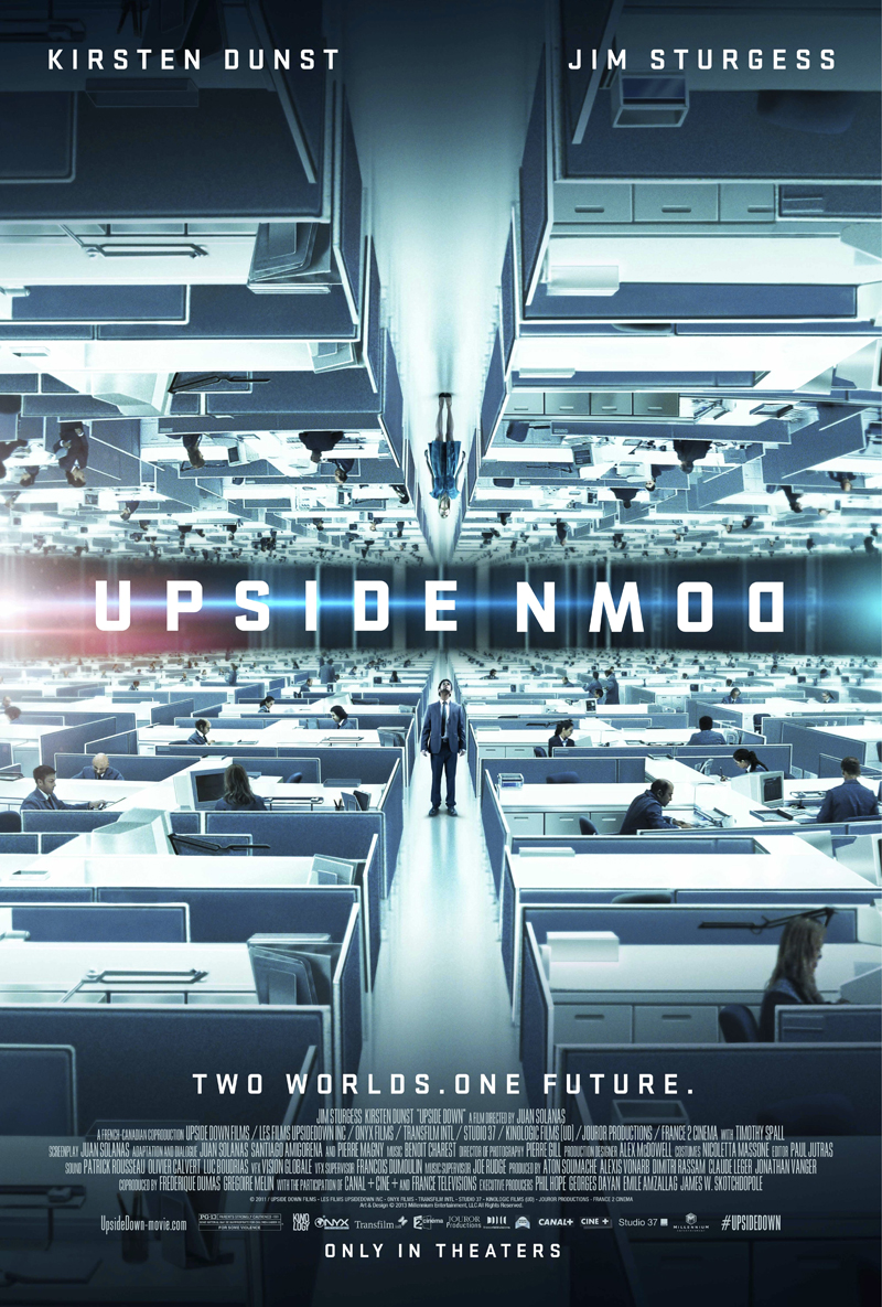 "Theatrical poster for ""Upside Down""."