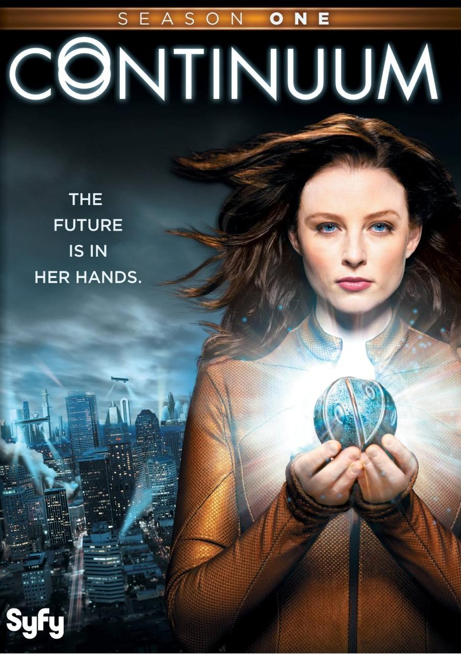 "Cover of the DVD release of ""Continuum"" season 1."