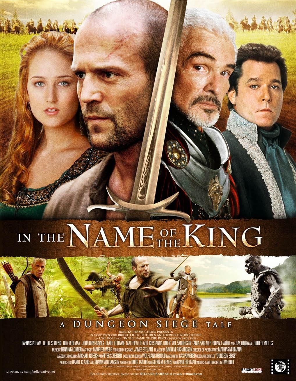 """In the Name of the King - A Dungeon Siege Tale"" poster."