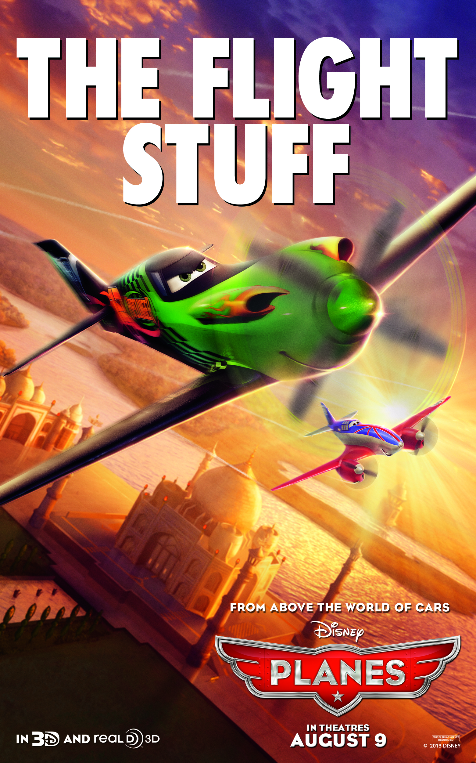 "Theatrical teaser poster for Disney's ""Planes""."