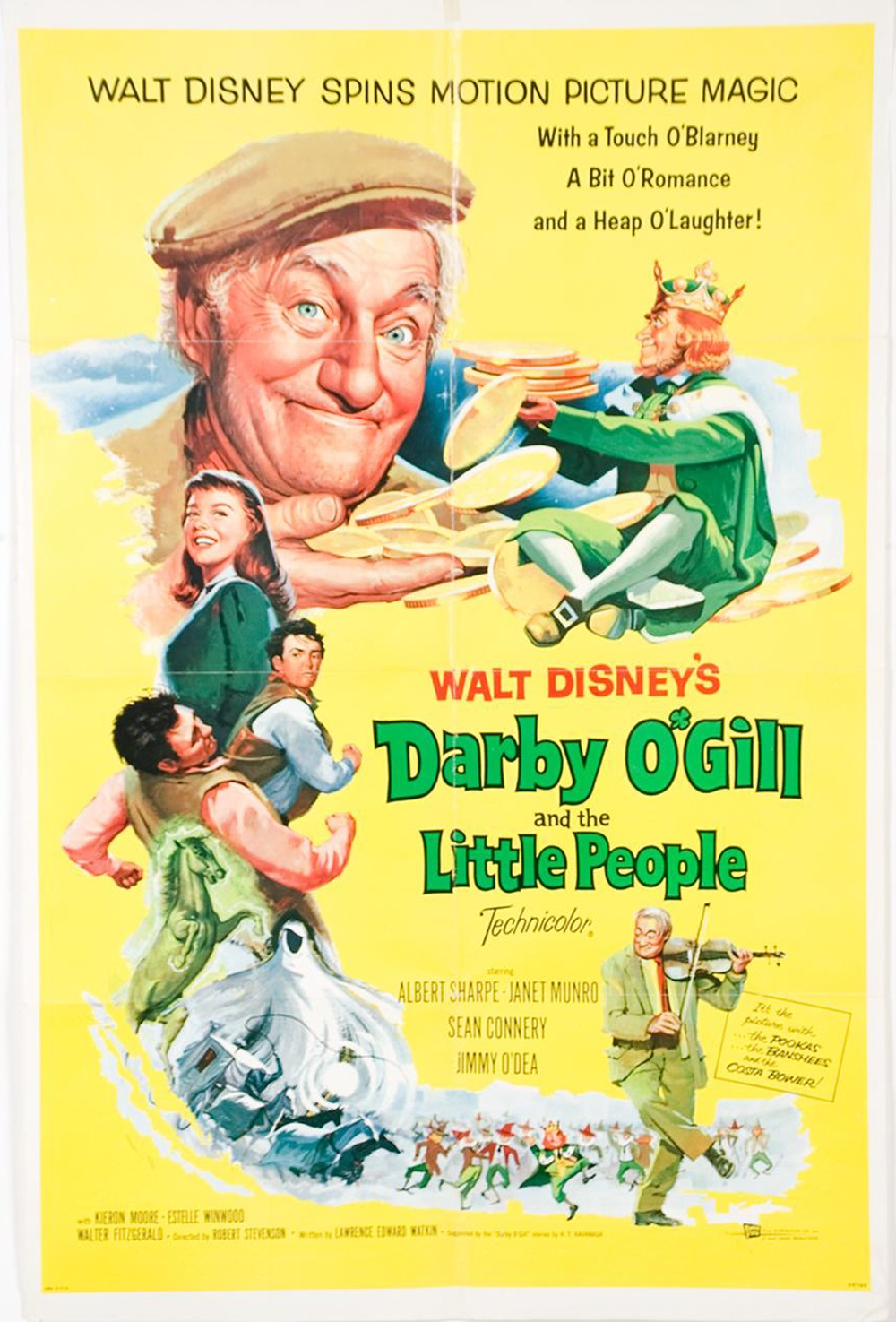 "Original theatrical poster for ""Darby O'Gill and the Little People""."