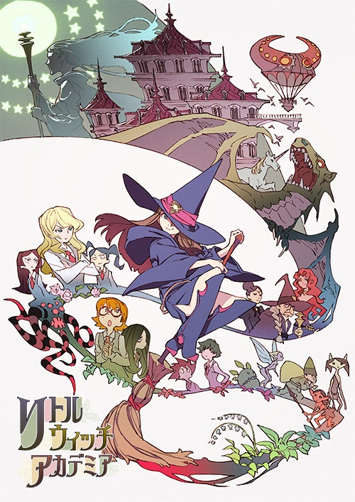 "Poster for the Japanese release of ""Little Witch Academia"" from Studio Trigger."