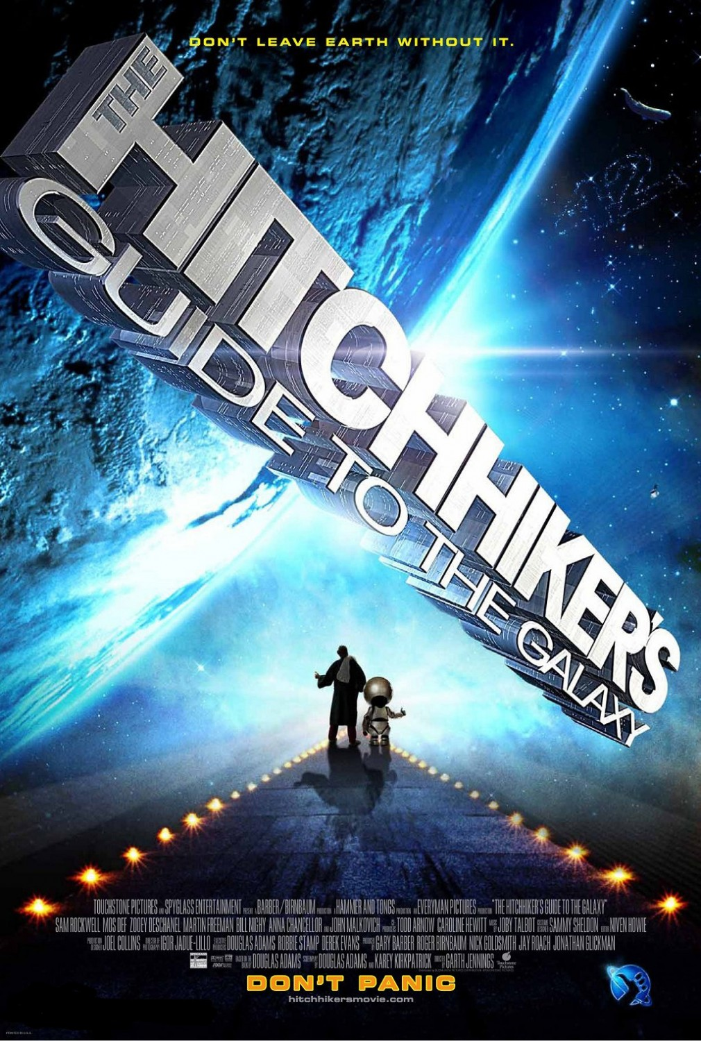 """""""The Hitchhiker's Guide to the Galaxy"""" theatrical teaser poster."""