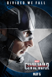 """""""Captain America Civil War"""" poster."""