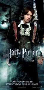 """Harry Potter and the Goblet of Fire"" - Ron's dress robes theatrical teaser poster."