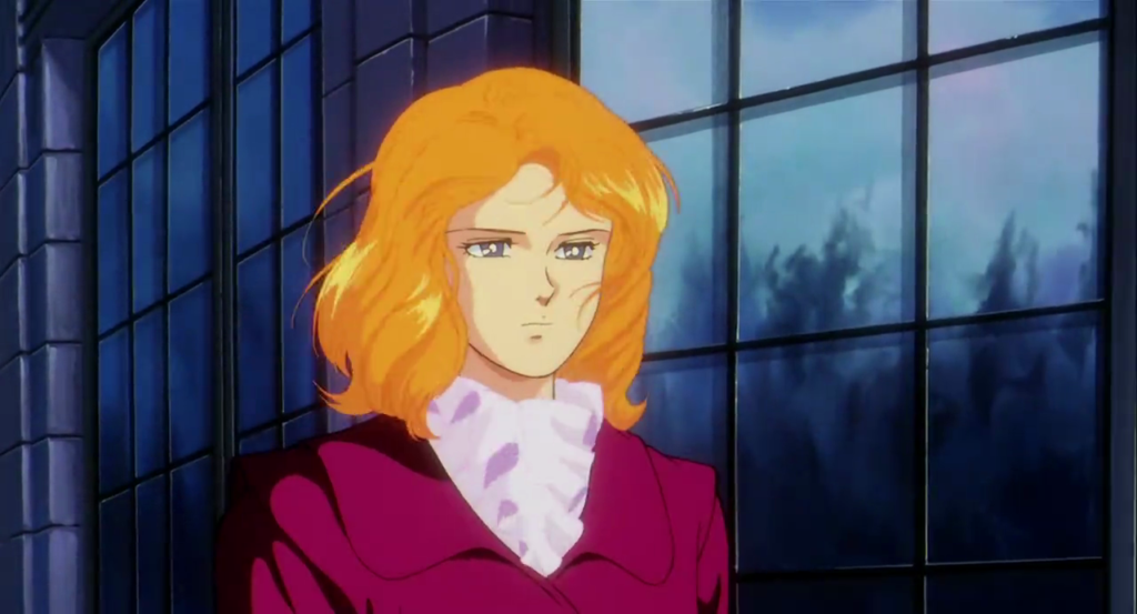 "Berah Ronah (Cecily) from ""Mobile Suit Gundam F91""."