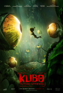 """""""Kubo and the Two Strings"""" - the Garden of Eyes theatrical teaser poster."""