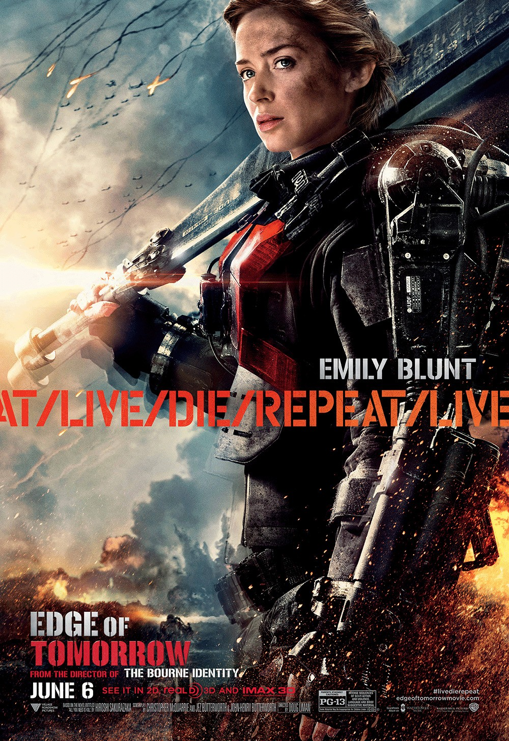 """Edge of Tomorrow"" theatrical teaser poster."
