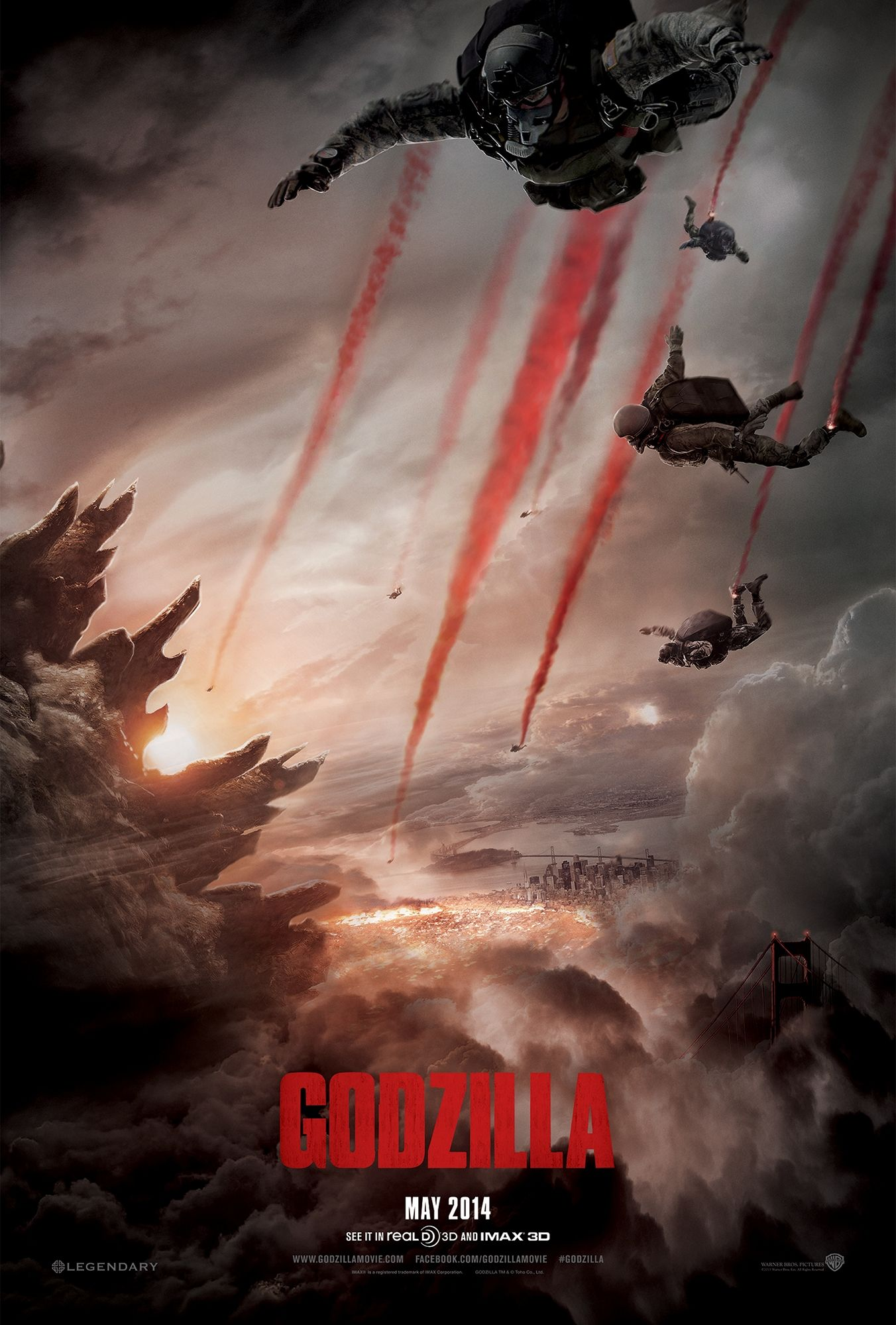 Godzilla 2014 theatrical teaser poster